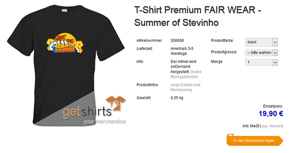 Summer of Stevinho Merchandise