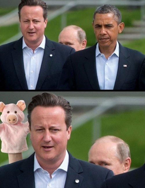 Obama, Cameron und Putin