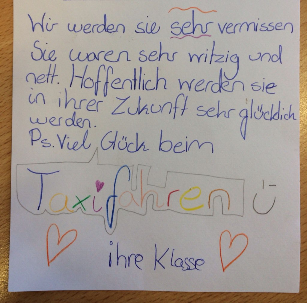 Lehrer abschiedsbrief an Abschiedsbrief Kindergarten