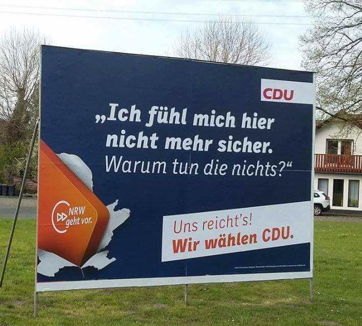 Ein Wahlplakat der CDU