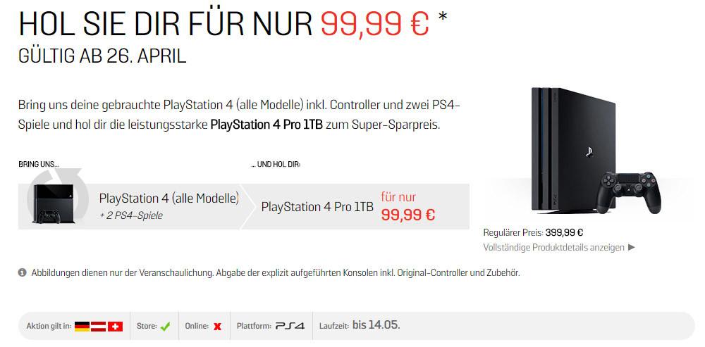 Die Playstation 4 Pro für 100 Euro?
